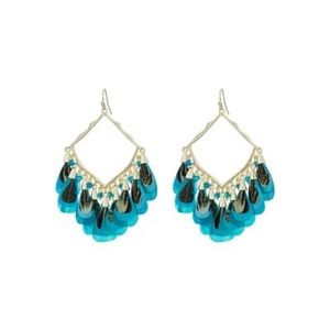 Kendra Scott blue and gold Raven earrings